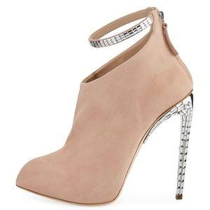 GIUSEPPE ZANOTTI FRIDA Crystal Ankle Strap Boot
